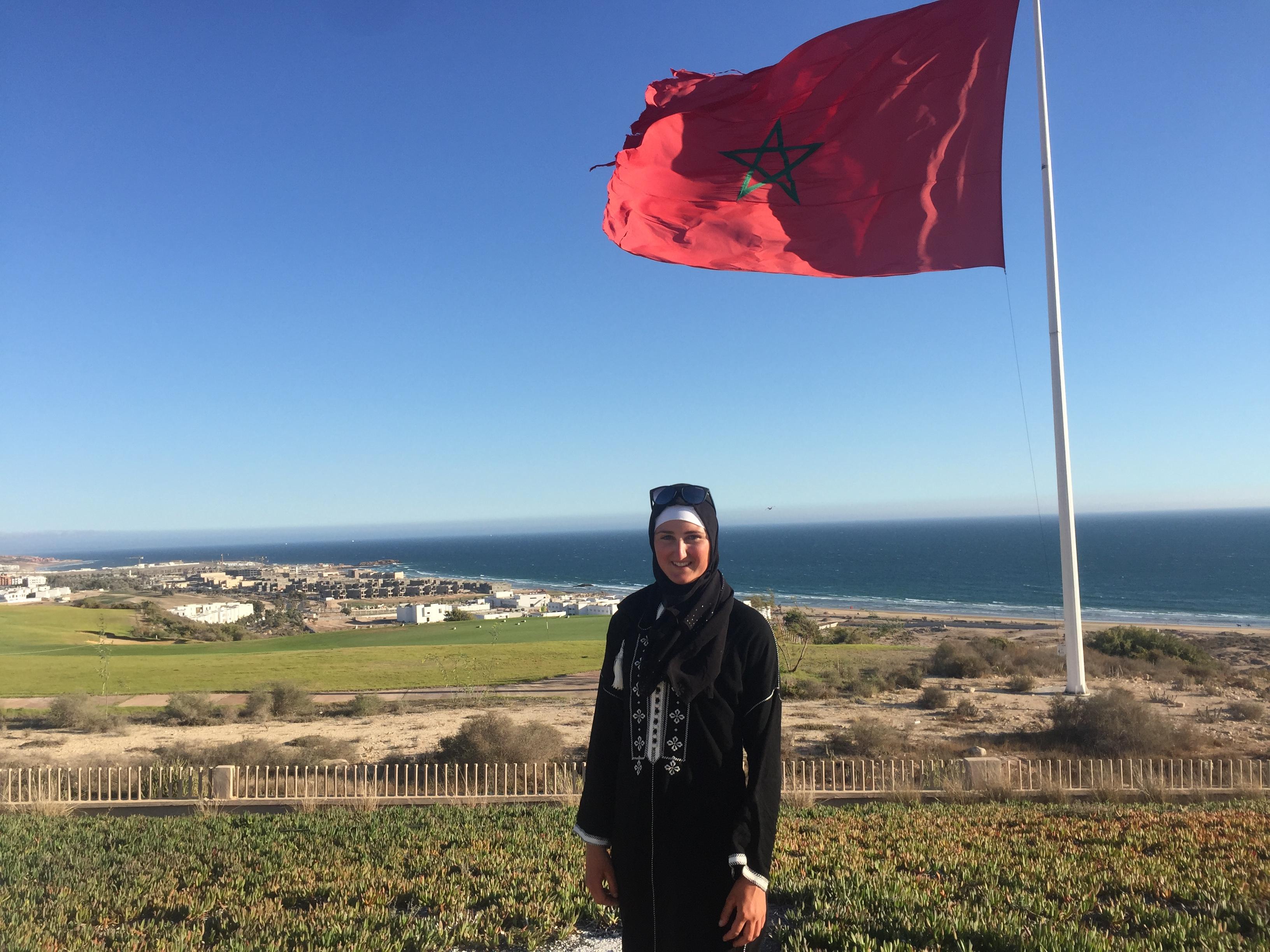 Marokkanisches Outfit und wunderbare Aussicht über Agadir