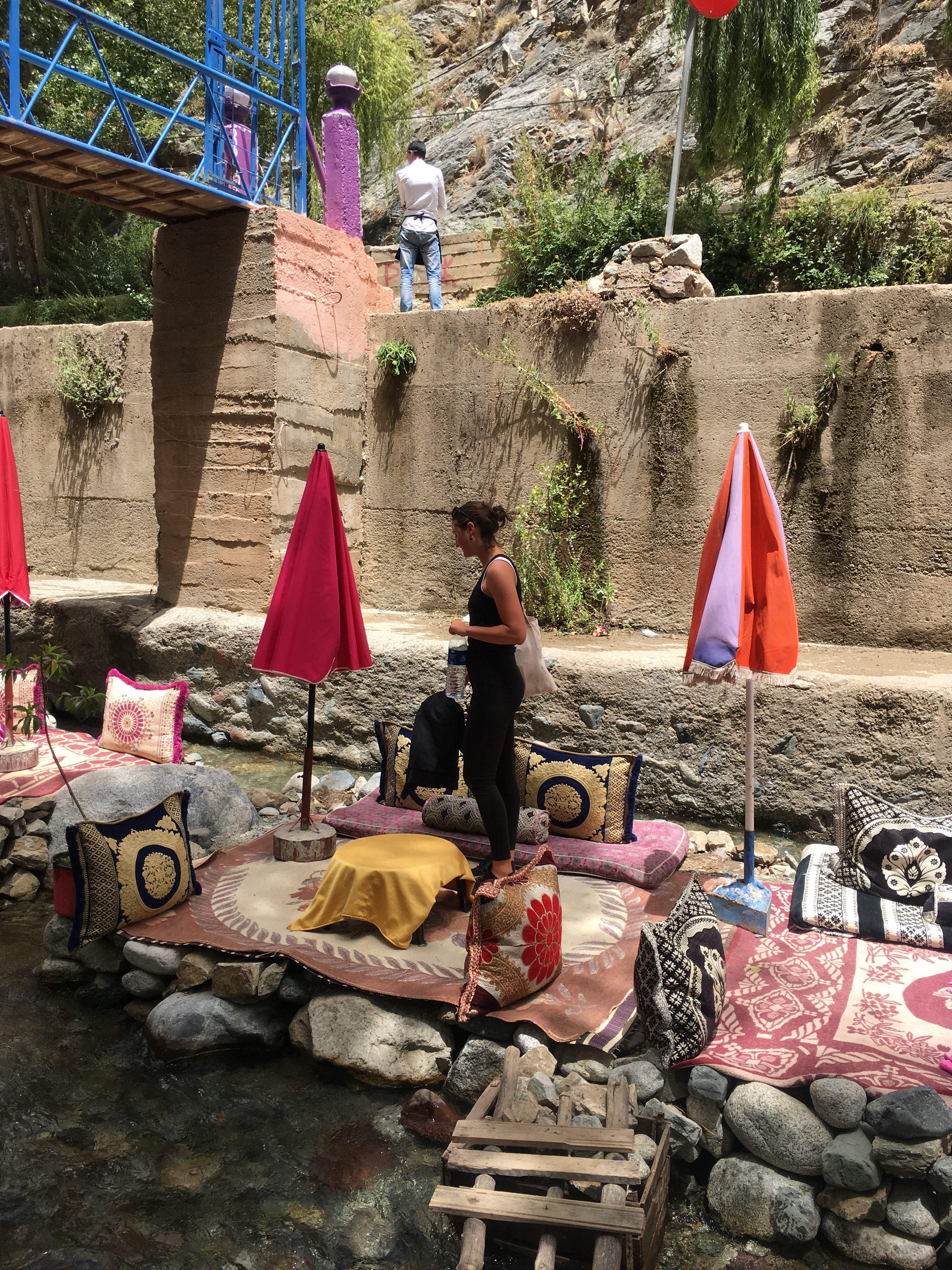 Ausflug in die Berge nahe Marrakeschs