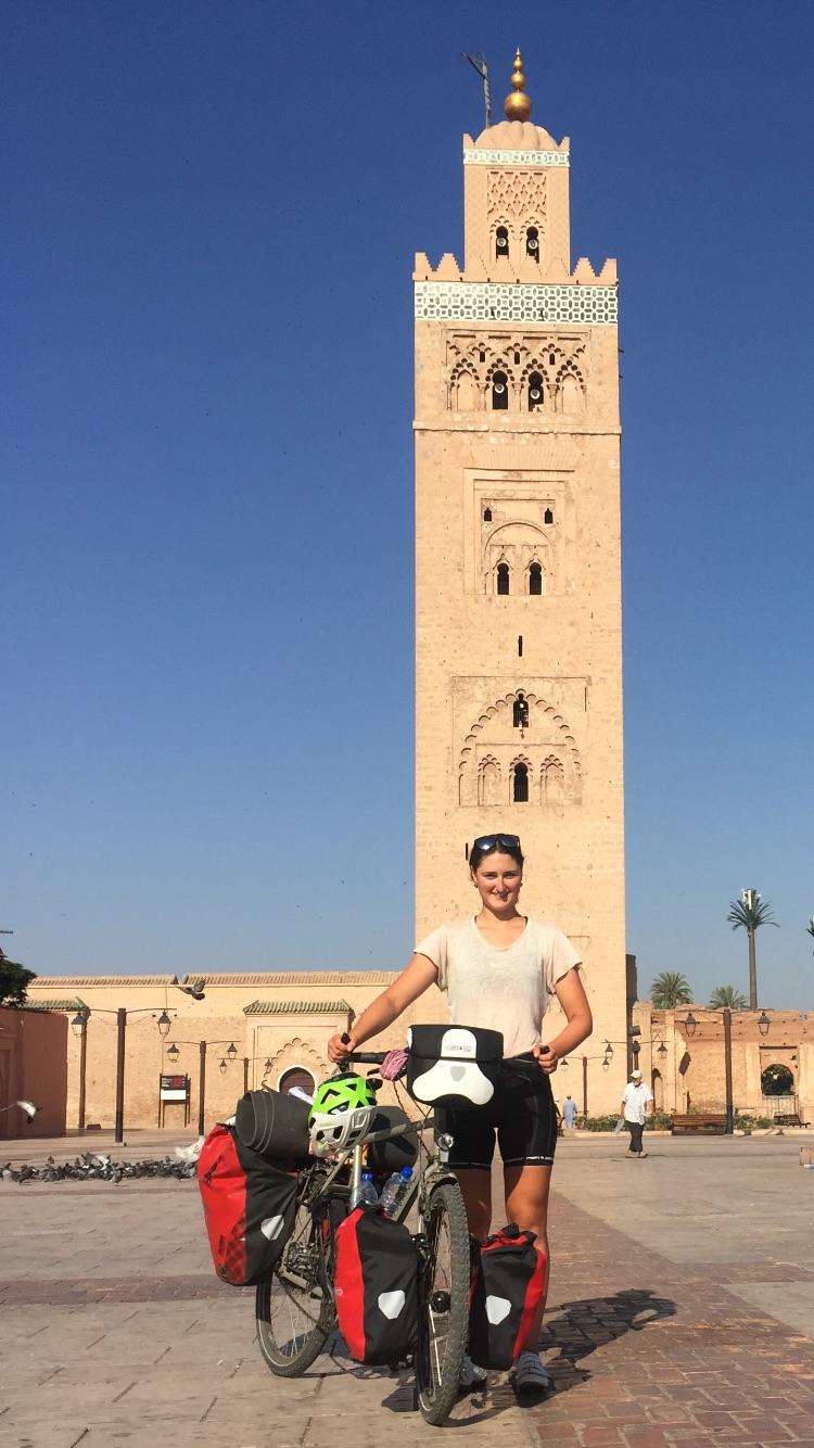 Marrakesch mit dem Fahrrad erreicht