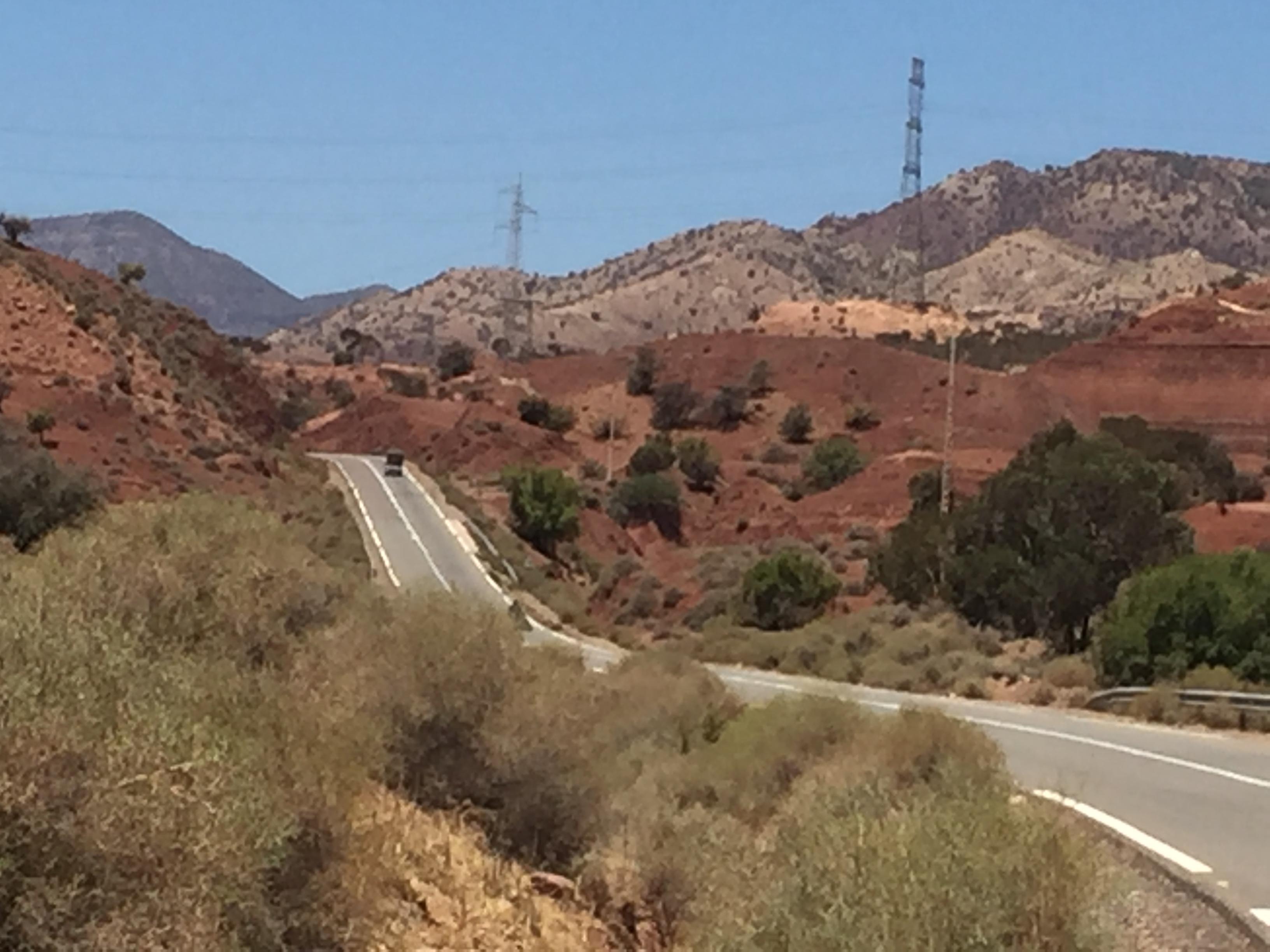 Wüste zwischen Agadir und Marrakesch